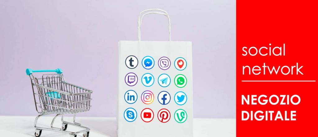 social network negozi attivita commerciali